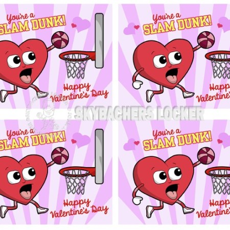 Basketball Valentines - Skybacher's Locker