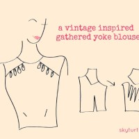 A Cute Vintage Gathered Yoke Blouse