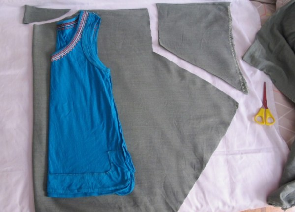 how to make a draped blouse the sewing  pattern