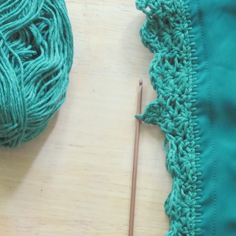 crochet scallop point