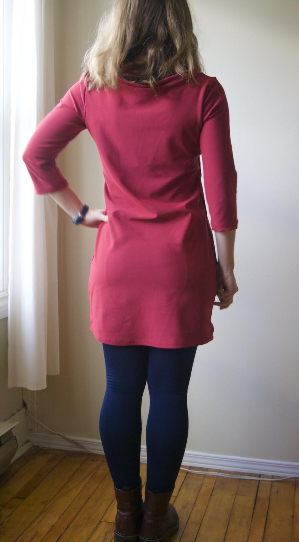 ponte knit mesa dress back
