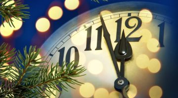 New Year's clock just before midnight