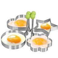 naughtygifts egg mold Egg Shaper egg ring pancake molds egg mould Stainless Steel Mold Cooking Kitchen Tools