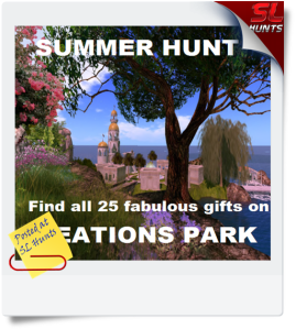 SUMMER HUNT on Creations Park- Find all 25 awesome gifts