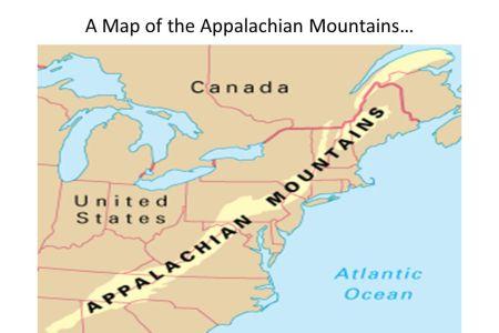 map of appalachians mountains