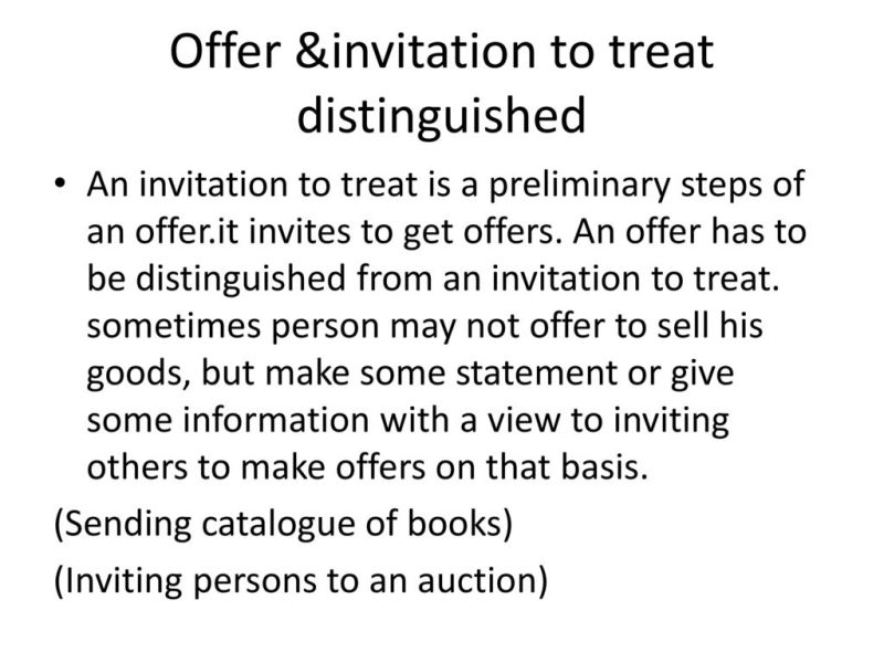 An invitation to treat is not offer invitationswedd 13 offer invitation stopboris Choice Image