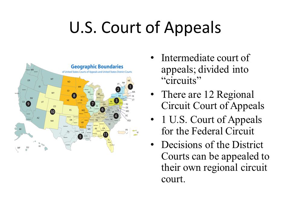 United States Courts Of Appeals Wikipedia Map Of US Circuit