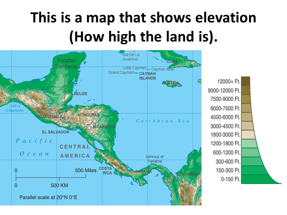 map that shows elevation