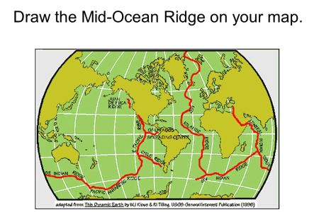 Map mid ocean ridge draw the mid ocean ridge on your map gumiabroncs Image collections