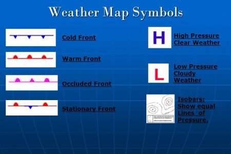 Map With Weather Symbols