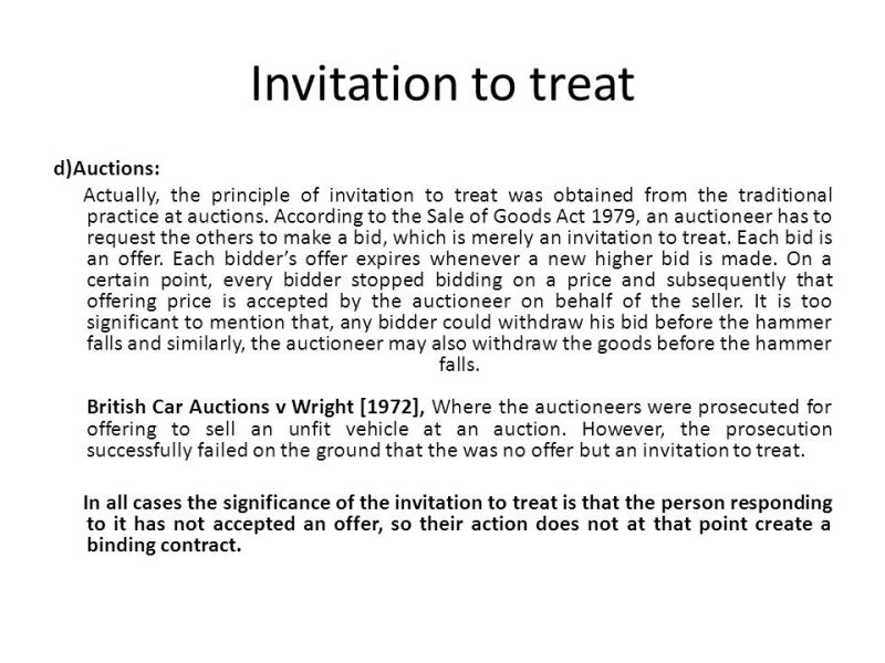 Difference between an offer and invitation to treat with decided example of invitation to treat case newsinvitation co stopboris Image collections