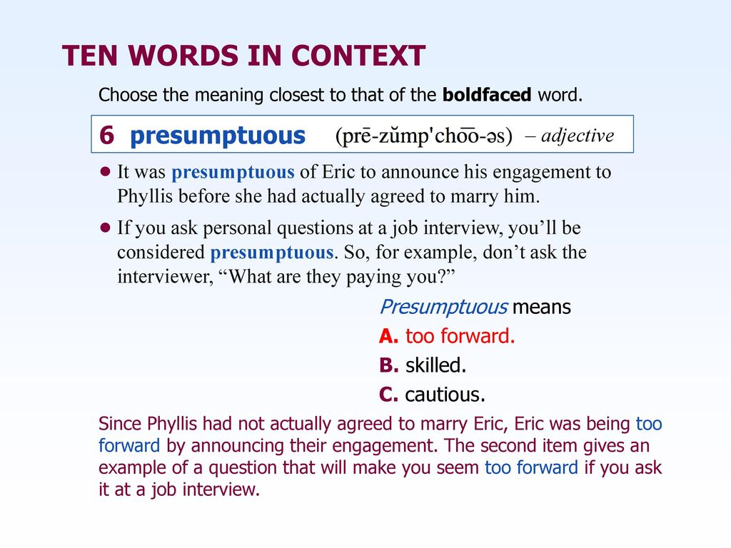 Fullsize Of What Does Presumptuous Mean