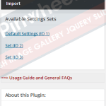 Create Unlimited Settings Panel, Export/Import Settings Set, Complete Documentation Available on dedicated Knowledge Base