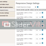 Enable Responsive design and control the layout on different devices, default values provided