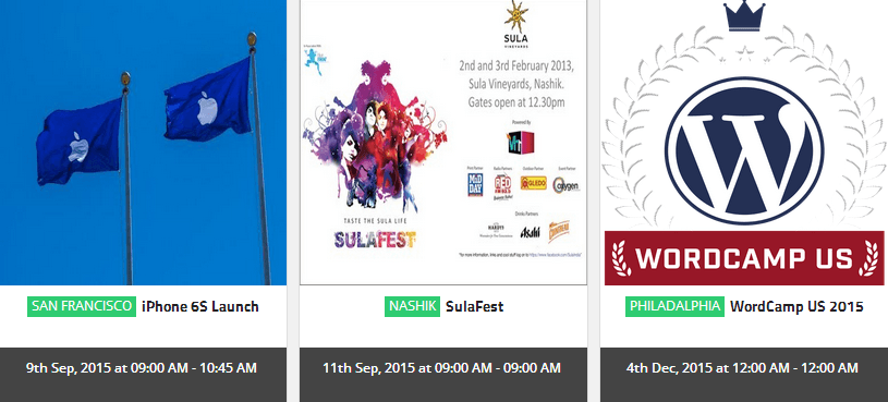 Events Calendar with Roster Slider WordPress Plugin
