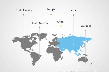 Map powerpoint customizable world map infographic powerpoint template slide1 6 toneelgroepblik Images