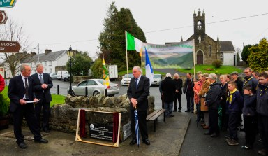 John Joe Fennelly, Chairman, Laois County Council pays tribute to Paddy Lowry in Kinnitty