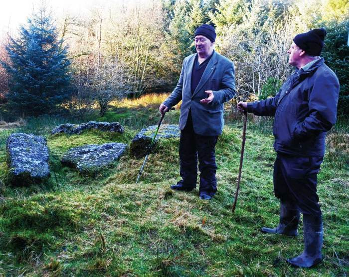 Mick Dowling gives a talk at The Giant's Grave for Imbolc Festival 2017 - Photo, Kathleen Culliton