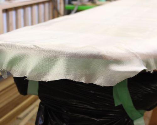 Laminating a paddleboard - Trim Fiberglass