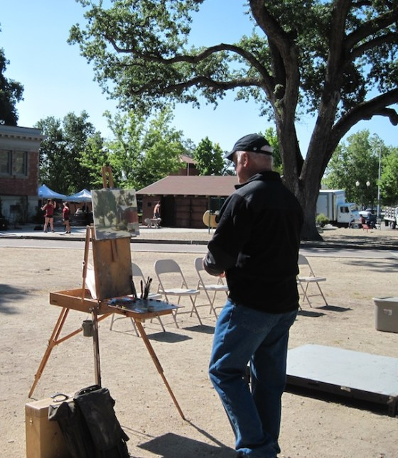 John Cosby decides what to do next on his winning plein air painting
