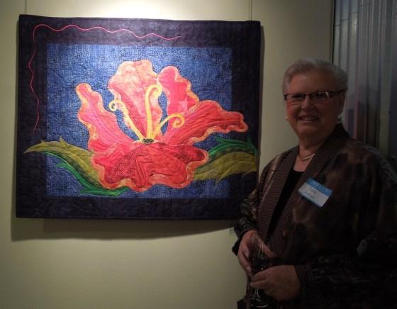 """Hibiscus Reborn"" Art Quilt by Rene Jennings"