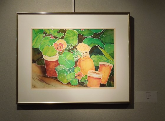 "Liv Hansen's finished Painting in the ""Gardens"" juried exhibit"