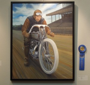 "Break the Record"" by W.B Eckert, which Won First Place at the ""No Boundaries"" Exhibit"