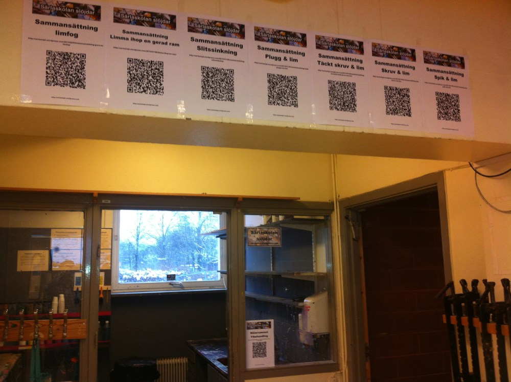 QR-koder öppnar fönster