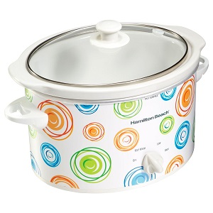 Hamilton Beach 3-Quart Slow Cooker, Multi-Color