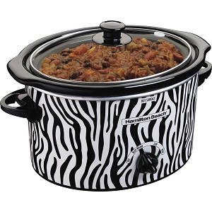 Hamilton Beach 3-Quart Slow Cooker, Zebra