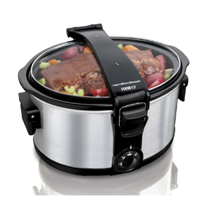Hamilton Beach 7-Quart Stay Or Go Slow Cooker