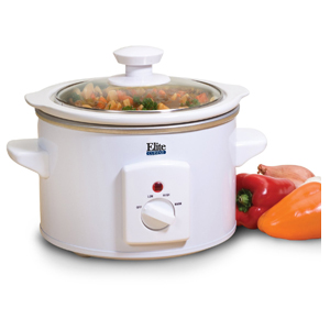 MaxiMatic 1.5-Quart Elite Gourmet Slow Cooker White