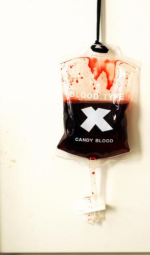 Fake blood bag