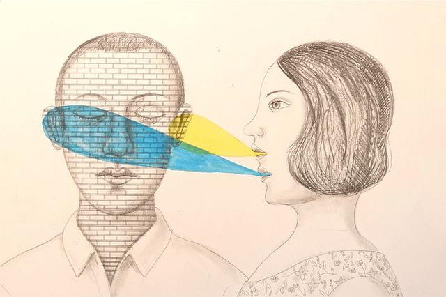 "{studiobeerhorst}-bbmarie, ""you are not listening"", CC BY http://www.flickr.com/photos/74782490@N00/6268874114/in/photolist-axXBSs-CVQtm-bFjZpF-5VYr2A-aeLwXq-9dTZK6-T2ZS1-dAdPGQ-5cFGhQ-7DsjCB-9JTPd8-7c3sB9-8uNQYG-4EKN56-4EKMSn-4EQ4TA-6TwFT9-6TsF44-6TwFRj-6TwG1A-5S1iMM-hFg6hM-dcM567-9nKTEV-9p1DpF-9nKUvp-58HCnh-bemMJr-c6ubSY-thZNG-9YBZDW-a7xB3U-7P5iup-3tEqDH-a9pQXt-5wHMjW-5wDrfa-5yrg9E-9u3eAa-itAH4-9kwa5m-daDCa7-dgr5iu-a8p2go-7a6Ttj-7c3xNm-7UZzhw-7UZznm-2eTYH-9nKUcn-aUQzSc"