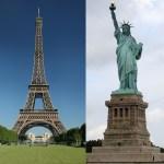 에펠탑 자유의 여신상