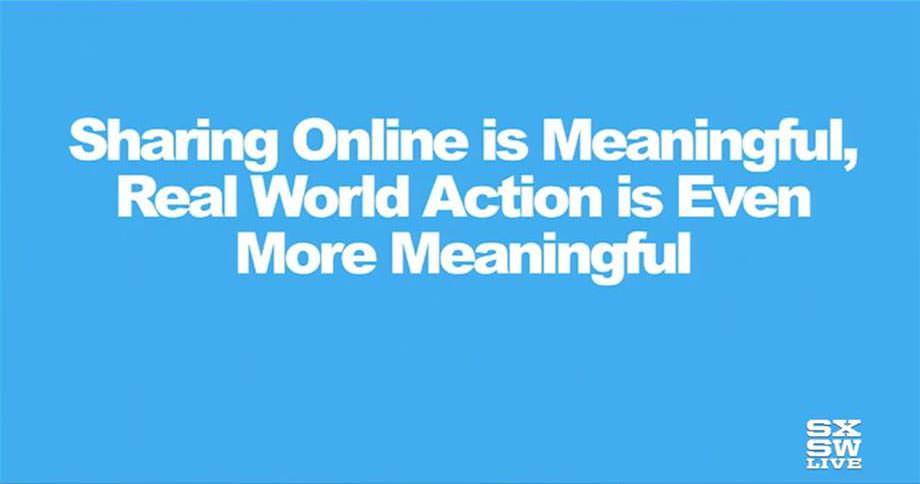 버즈피드 - 온라인 공유는 의미 있다. 그러나 현실의 액션은 더욱 의미 있다.