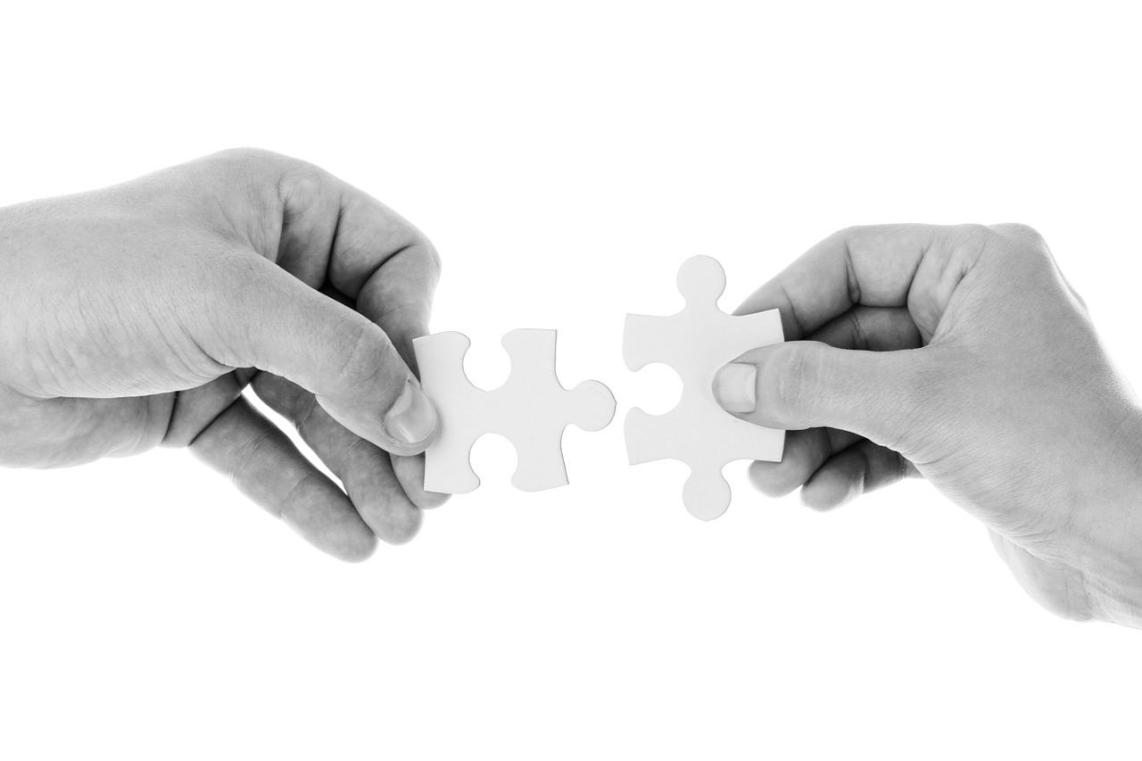 협력 우정 퍼즐 퍼블릭 도메인
