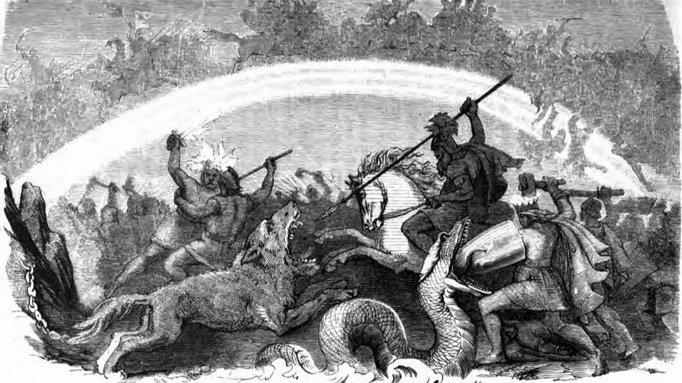 라그나로크를 표현한 그림