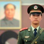 천안문 광장 중국 군인