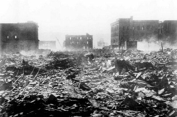 원폭 후 폐허로 변한 히로시마