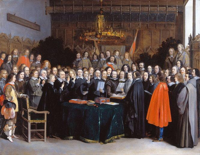베스트팔렌 조약의 비준 (Gerard Terborch, 1648)