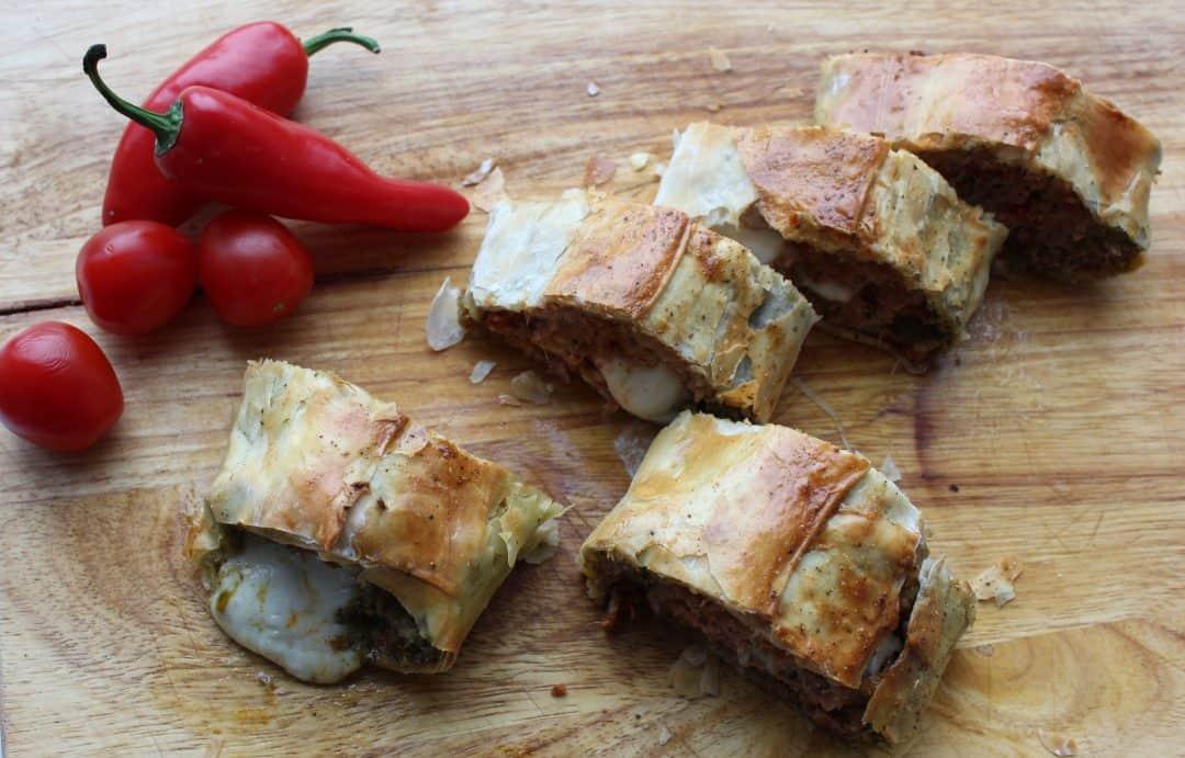 Italian Style Turkey Roll With Pesto, Sun-dried Tomatoes and Mozzarella