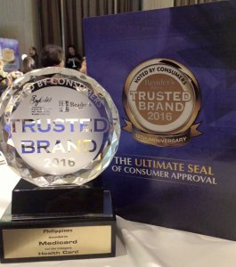 Reader's Digest's Trusted Brand Award