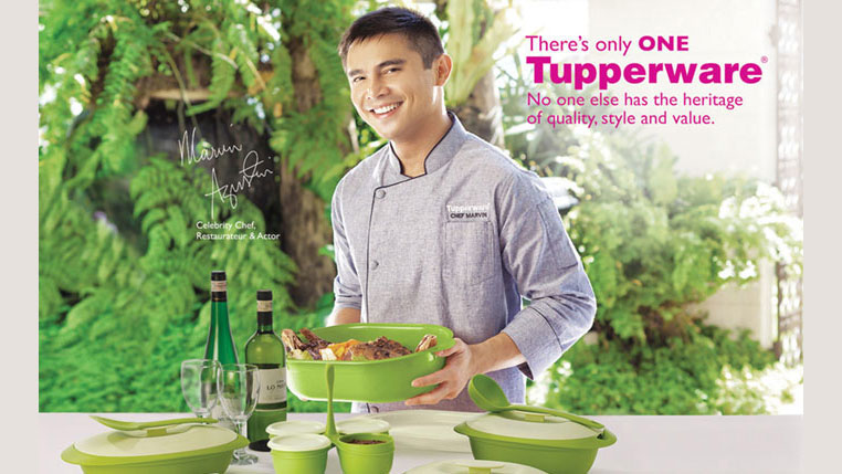 Marvin Agustin and Tupperware