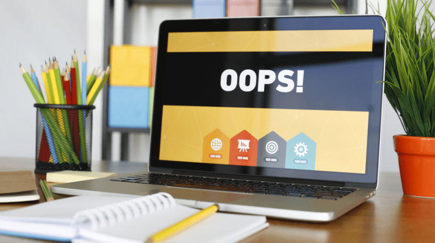 small business mistakes online