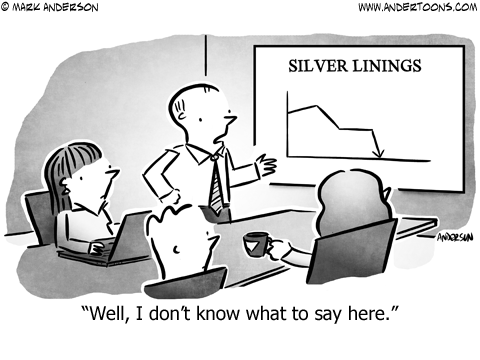 Silver Lining Business Cartoon