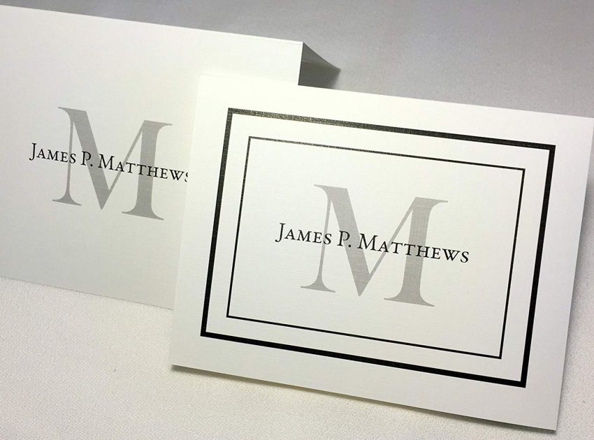 20 Christmas Gifts for Coworkers - Monogram Stationery Set