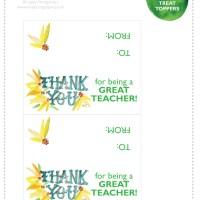 make . Teacher Treat Topper [printable]