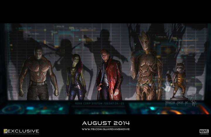 Guardians Of The Galaxy Comic Con 2013