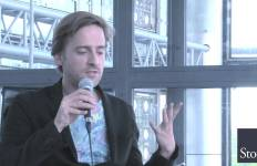 Denis Michelis présente son roman à l'Institut du Monde Arabe en juin dernier.
